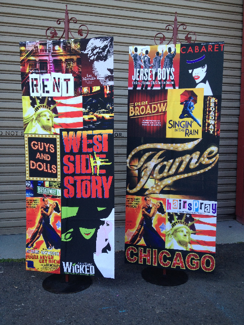 BAN0101 BANNER, Hanging Broadway Design - 75cm x 1.8m Long $37.50 (Stand Additional)