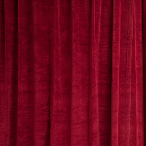 CUR0001 CURTAIN, Dark Red Velour 1.2m x 2.7m drop $25
