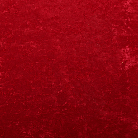 CUR0002 CURTAIN, Bright Red Crushed Velvet 1.5m x 3m drop $25