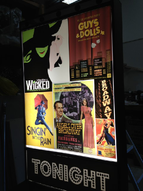 POS0002 POSTER, Translucent Broadway Lightbox Poster WICKED/GUYS&DOLLS 60x74cm H $25