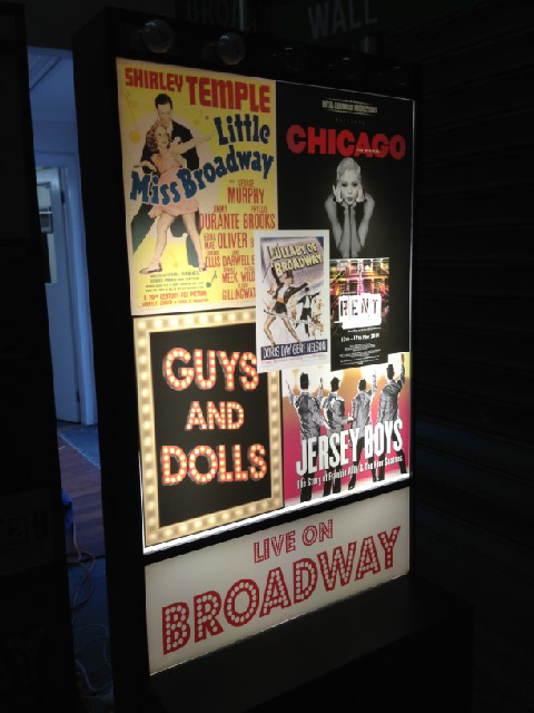 POS0005 POSTER, Translucent Broadway Lightbox Poster SHIRLEY/CHICAGO 60x74cm H $25
