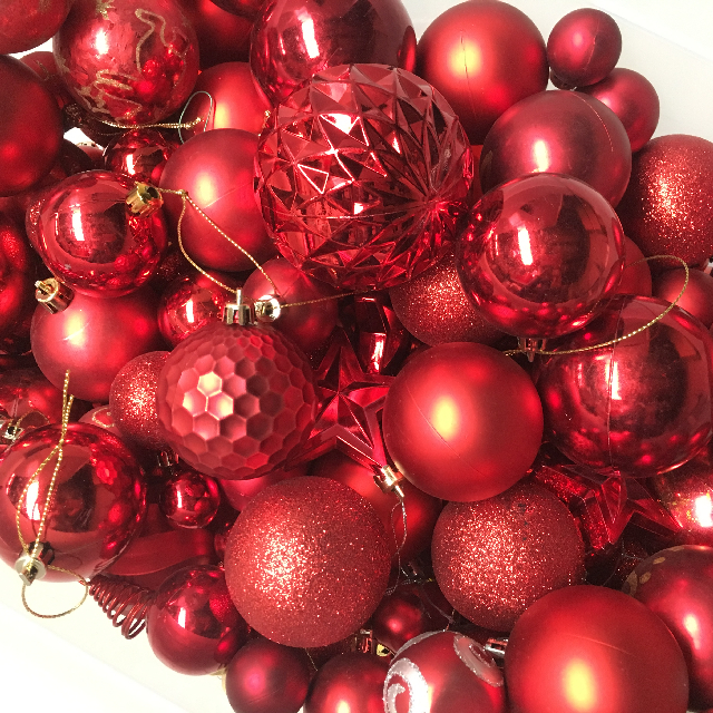 BAU0013 BAUBLE, Red (Box Lot) $25