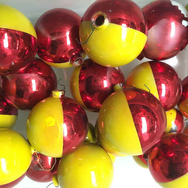 BAU0016 BAUBLE, Red Yellow (Box Lot) $25