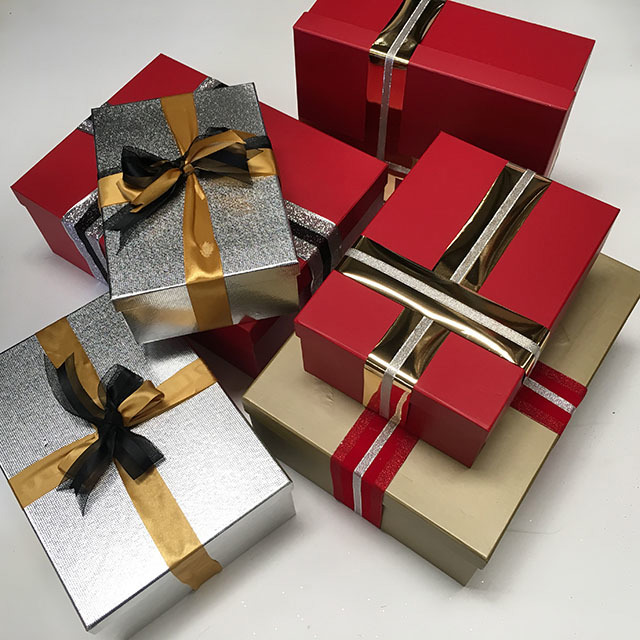 BOX0102 BOX, Premium Gift Box w Ribbon - Assorted $3.75
