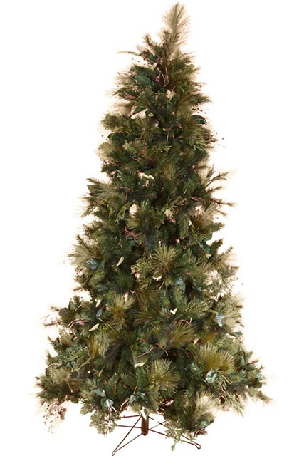 CHR0002 CHRISTMAS TREE, Large Green Full Tree w Leaf Detail - 2.1m H $150