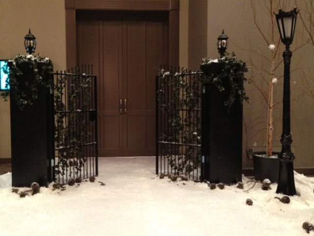 Christmas Setup - Gates w Snow