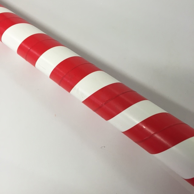 LOL0011 LOLLY, Candy Cane Straw Red & White Stripe 1.5m H PVC $7.50