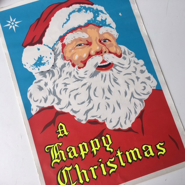 CHR0056 CHRISTMAS POSTER, A Happy Christmas - 50cm x 70cm $5
