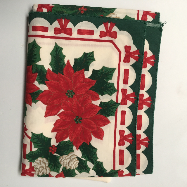 TAB0402 TABLECLOTH, Christmas Design - Poinsettia $7.50