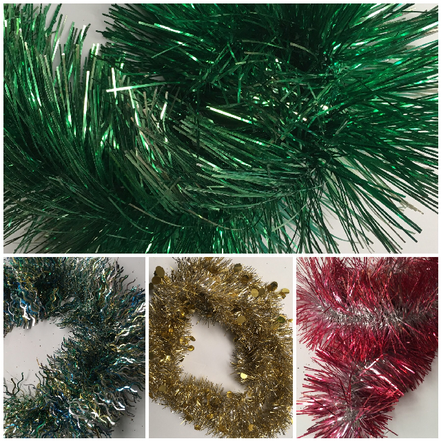 TIN0050 TINSEL, Assorted Colours $1.25