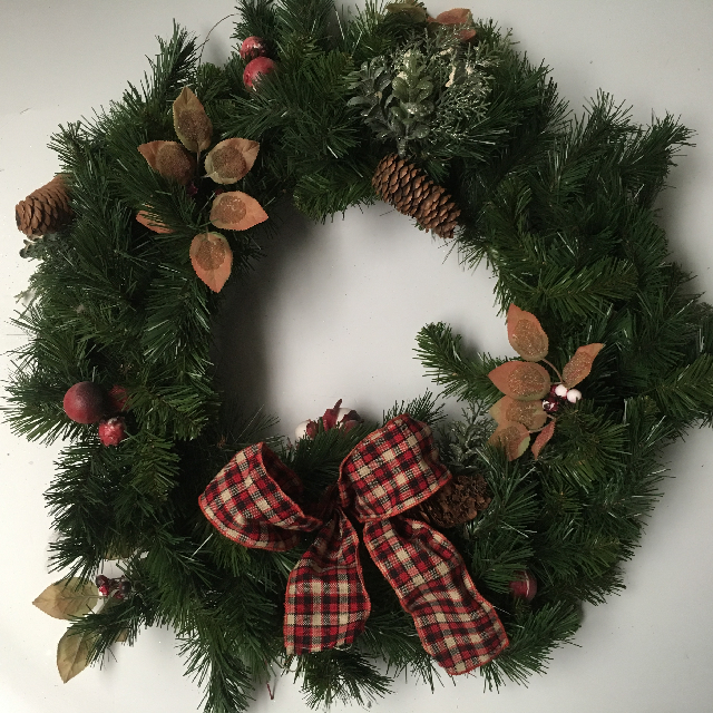 WRE0005 WREATH, Green Spruce 60cm Diameter $18.75