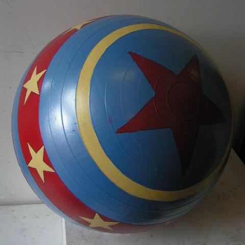 BAL0001 BALL, Large Inflatable Blue, Red & Yellow $25