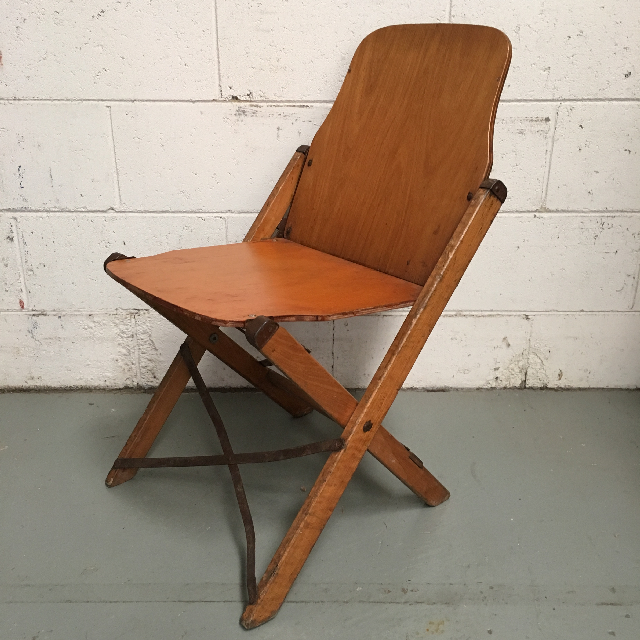 CHA0506 CHAIR, Folding Timber Theatre, Single $18.75