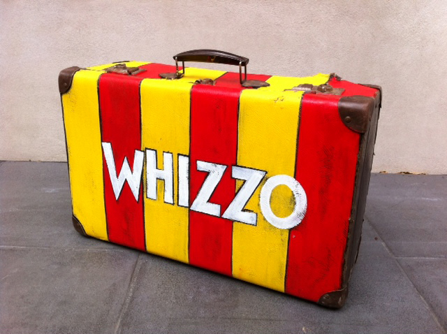 SUI0003 SUITCASE, Red & Yellow - Whizzo the Clown $30