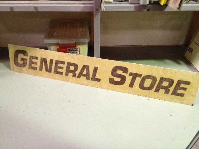 SIG0063 SIGN, Store - General Store $22.50