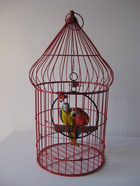 BIR0119 BIRDCAGE, Red Asian (70cm) $22.50