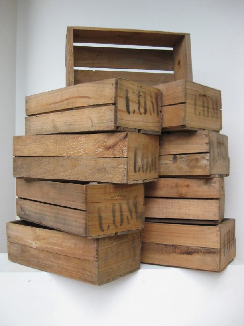 CRA0012 CRATE, Small - Shallow (47x23x15cm H) $12.50