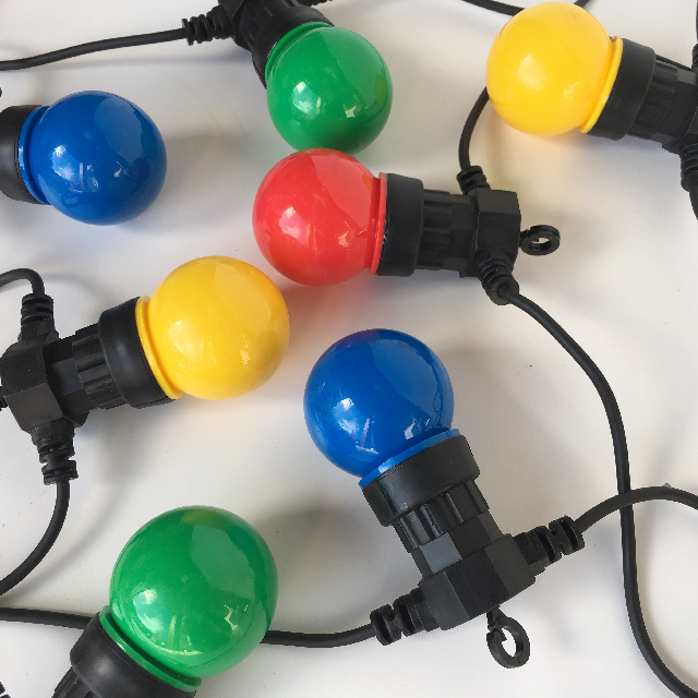 LIG0202 LIGHTING, Festoon LED Party Light Set Multi (10 Plastic Globe) 6m $12.50