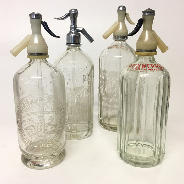 SOD0001 SODA SYPHON, Glass Vintage - Assorted $15