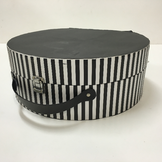 BOX0008 BOX, Hat Box - Black And White Stripe $18.75