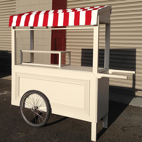 Large Cream Cart w Optional Canopy