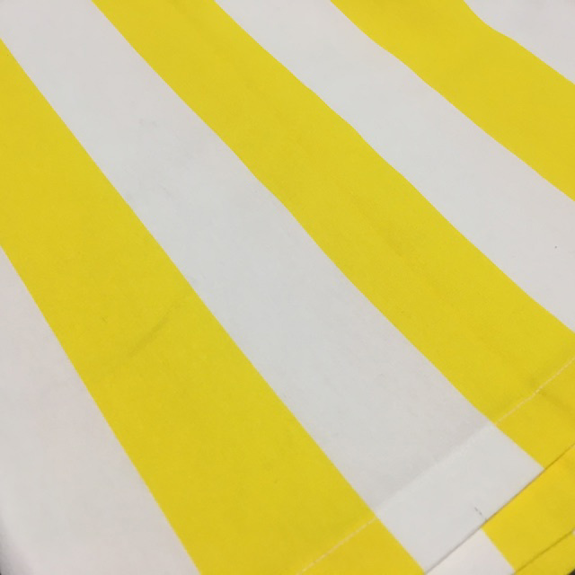 CAR0013 CART CANOPY, Yellow & White Stripe (For Cream Cart) $27.50