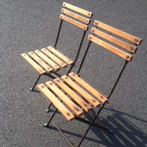 CHA0510 CHAIR, Folding Timber - Outdoor Slat $18.75