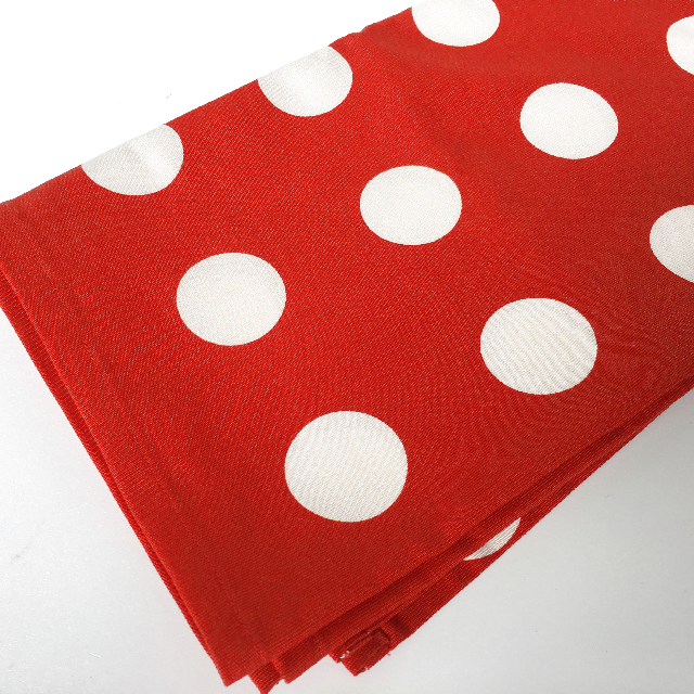 TAB0100 TABLECLOTH, Red & White Polka Dot 65cm x 80cm $8.75