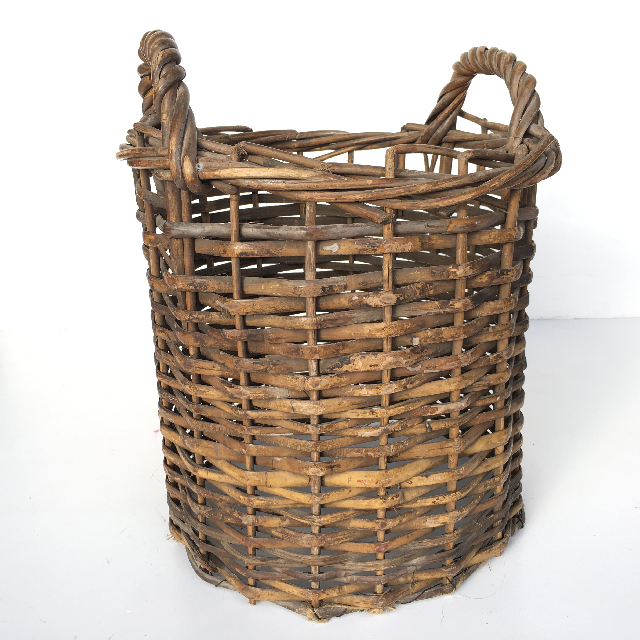 BAS0038 BASKET, Narrow Wicker (missing base) 30-35cm H $10