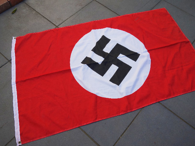 FLA0017 FLAG, German Swastika - 80cm x 120cm Cotton Stitched $30 & FLA0018 FLAG, German Swastika - Large 90cm x 150cm Polyester $15