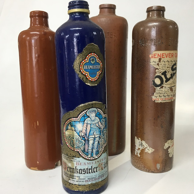 STO0003 STONEWARE, Bottle - 1 Litre Brown or Blue $6.25