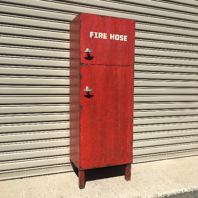 FIR0024 FIRE HOSE BOX, Red Box (Needs to Lean Against Wall) - 1.8m H x 64cm W x 40cm D $75
