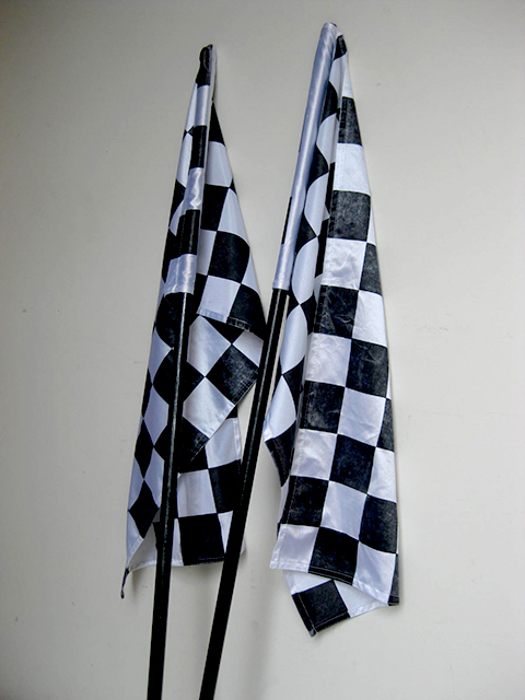 FLA0087 FLAG, Grand Prix - Black & White 40 x 75cm $5