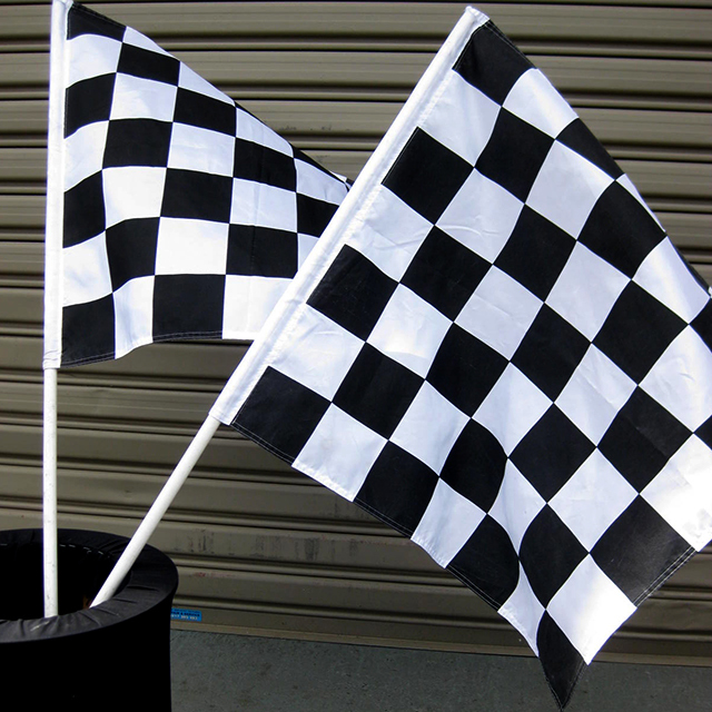 FLA0088 FLAG, Grand Prix - Black & White 70 x 70cm $6.25