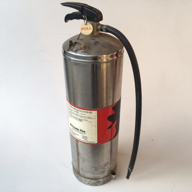FIR0019 FIRE EXTINGUISHER, Stainless Steel w Label $15
