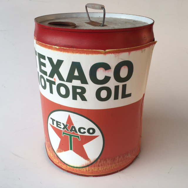 DRU0004 DRUM, Oil Drum - 20L Texaco Motor Oil $18.75
