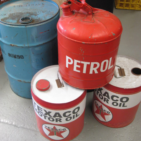 Collection of Oil & Petrol Cans