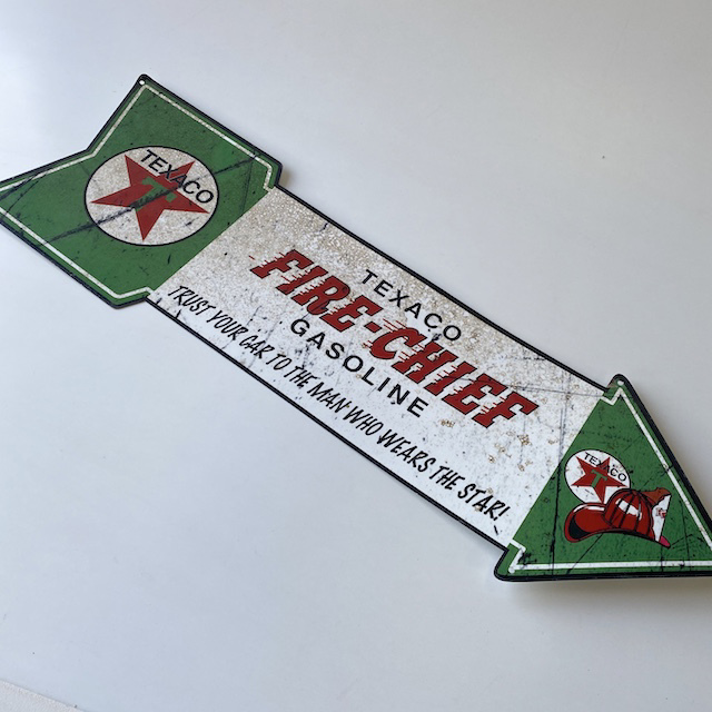 SIG0628 SIGN, Garage - Texaco Chief Arrow 60cm $18.75