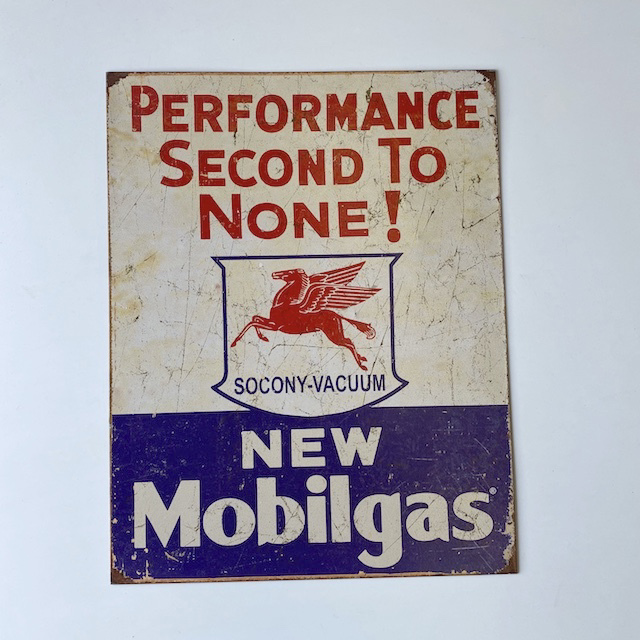 SIG0653 SIGN, Garage - New Mobilgas $11.25