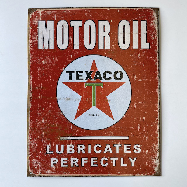 SIG0629 SIGN, Garage - Texaco Motor Oil $18.75