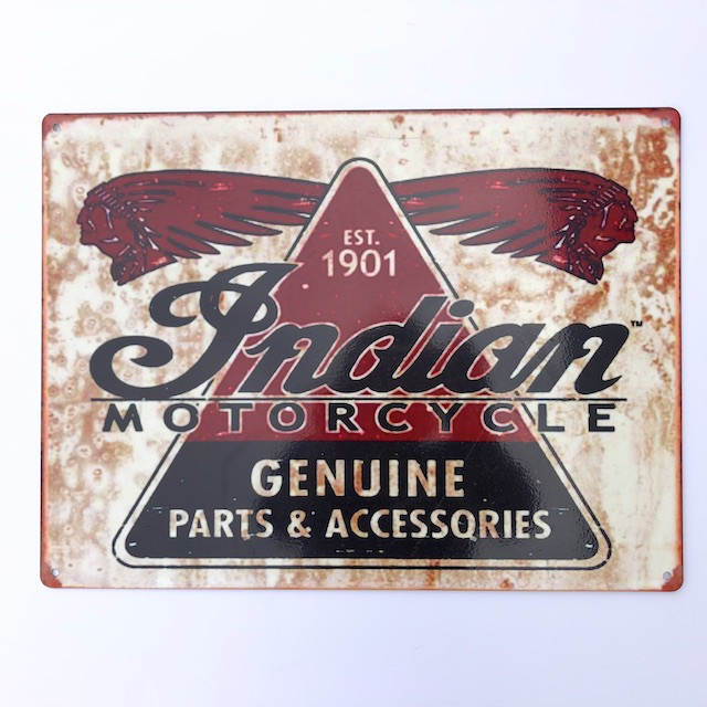SIG0626 SIGN, Garage - Indian Motorcycle 40cm x 30cm $18.75