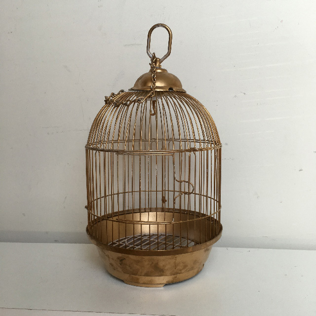 BIR0113 BIRDCAGE, Gold Dome Shape - Small $6.25
