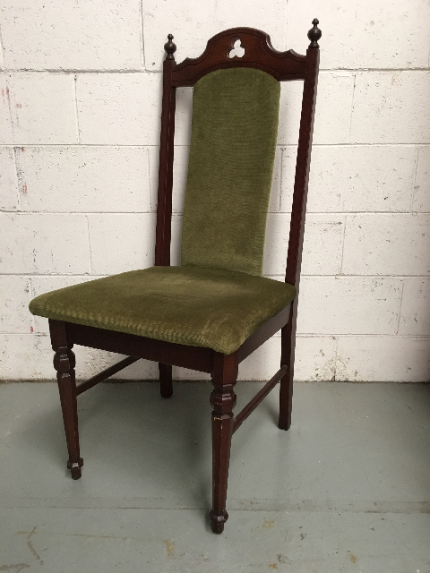 CHA0600 CHAIR, High Back - Olive Velvet $25
