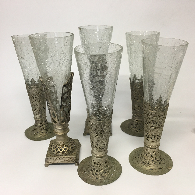 GOB0003 GOBLET, Glass w Pewter Base $7.50
