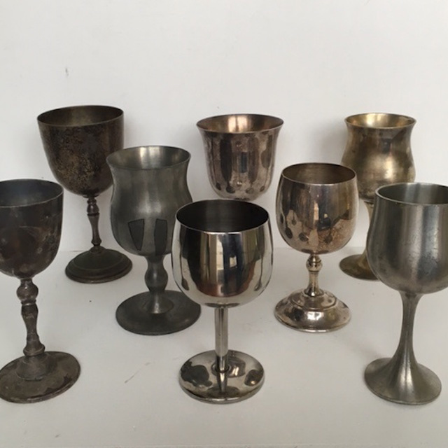 GOB0005 GOBLET, Silver or Pewter Assorted $3.75
