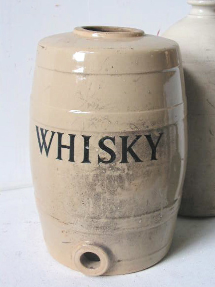 STO0001 STONEWARE, Whiskey Keg $22.50