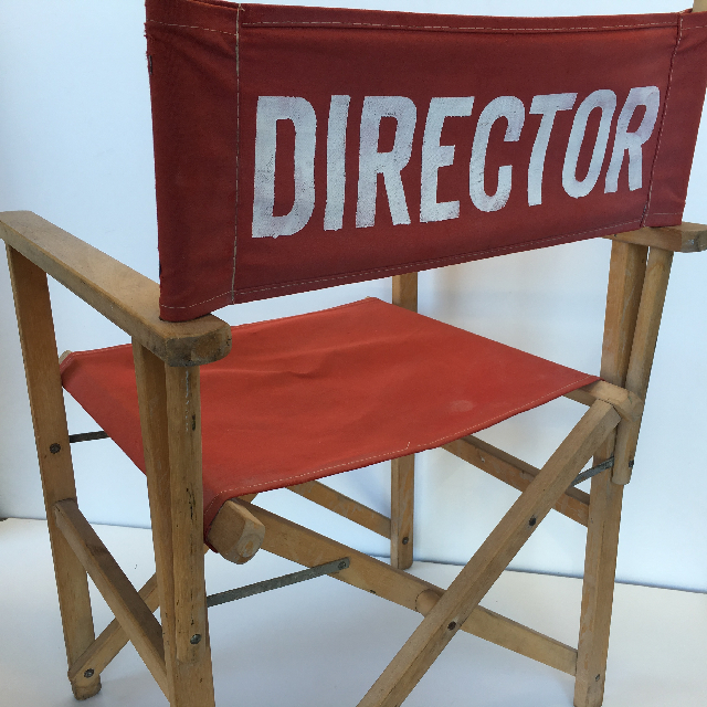 CHA0542 CHAIR, Directors Chair - Red (Large Lettering) $37.50