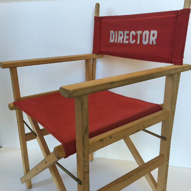 CHA0543 CHAIR, Directors Chair - Red (Small Lettering) $37.50