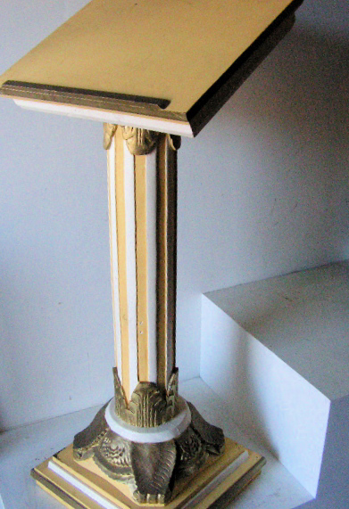 LEC0001 LECTERN, Ornate Yellow Gold and Cream $87.5