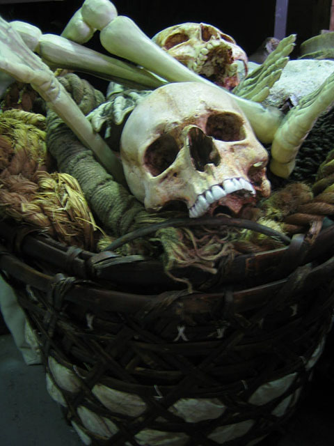 BON0011 BONES, Bulk Lot in Open Basket w Rope $45
